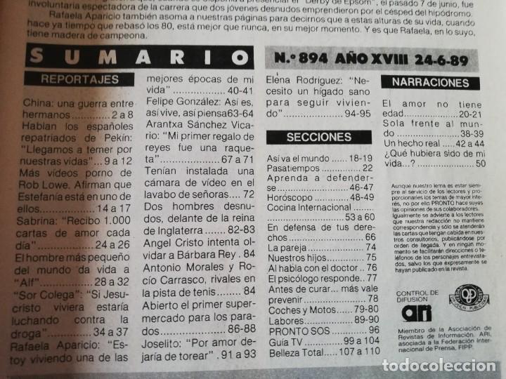 Coleccionismo de Revista Pronto: Revista PRONTO 894 Rob Lowe Sabrina Salerno Alf Rafaela Aparicio Arantxa Sánchez Vicario Lola Forner - Foto 9 - 262082940