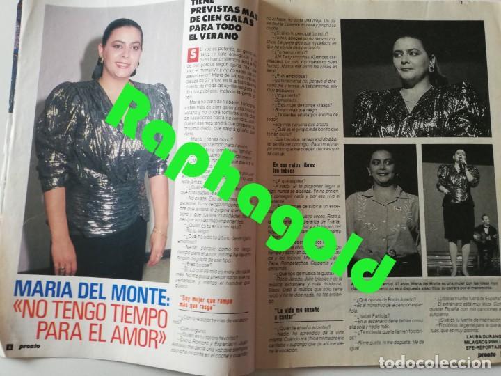 Coleccionismo de Revista Pronto: PRONTO nº 899 María del Monte El Litri Vaitiare José Luis Perales Jesús Hermida Isabel Preysler ETA - Foto 2 - 262083415