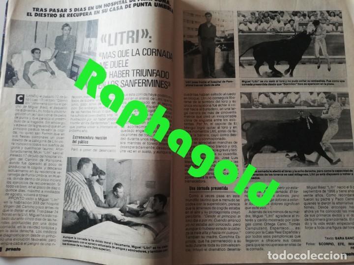Coleccionismo de Revista Pronto: PRONTO nº 899 María del Monte El Litri Vaitiare José Luis Perales Jesús Hermida Isabel Preysler ETA - Foto 3 - 262083415