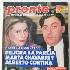 Coleccionismo de Revista Pronto: REVISTA PRONTO 912 MARTA CHÁVARRI ISABEL PANTOJA MANOLO ESCOBAR LOLA FLORES JULIA OTERO JANE FONDA. Lote 262083880