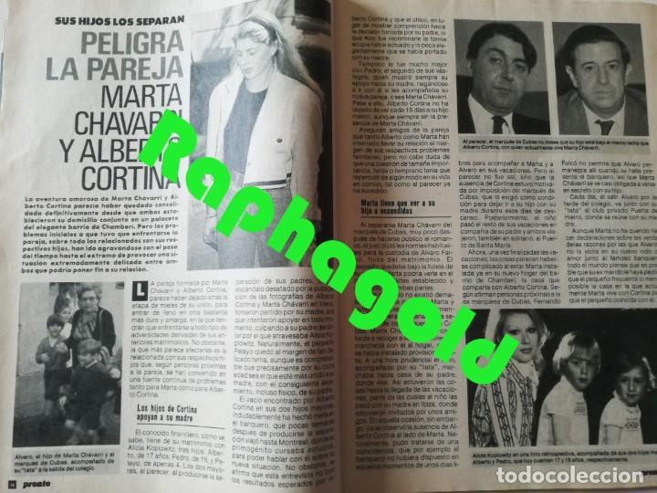 Coleccionismo de Revista Pronto: Revista PRONTO 912 Marta Chávarri Isabel Pantoja Manolo Escobar Lola Flores Julia Otero Jane Fonda - Foto 4 - 262083880