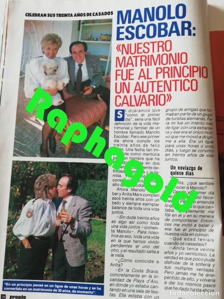 Coleccionismo de Revista Pronto: Revista PRONTO 912 Marta Chávarri Isabel Pantoja Manolo Escobar Lola Flores Julia Otero Jane Fonda - Foto 5 - 262083880