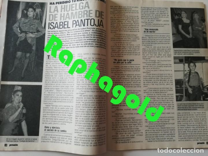 Coleccionismo de Revista Pronto: Revista PRONTO 912 Marta Chávarri Isabel Pantoja Manolo Escobar Lola Flores Julia Otero Jane Fonda - Foto 6 - 262083880