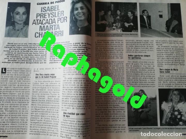 Coleccionismo de Revista Pronto: Revista PRONTO nº 913 Isabel Preysler Marta Chávarri Vicky Larraz Paquita Rico Camilo José Cela - Foto 2 - 262084420
