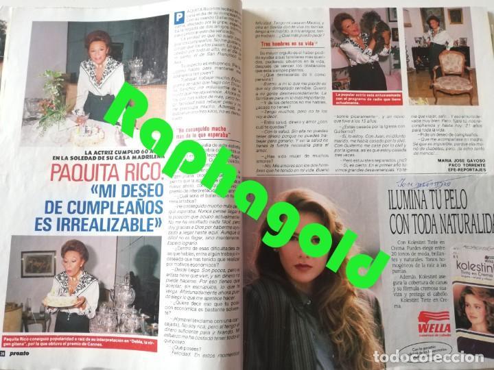 Coleccionismo de Revista Pronto: Revista PRONTO nº 913 Isabel Preysler Marta Chávarri Vicky Larraz Paquita Rico Camilo José Cela - Foto 4 - 262084420