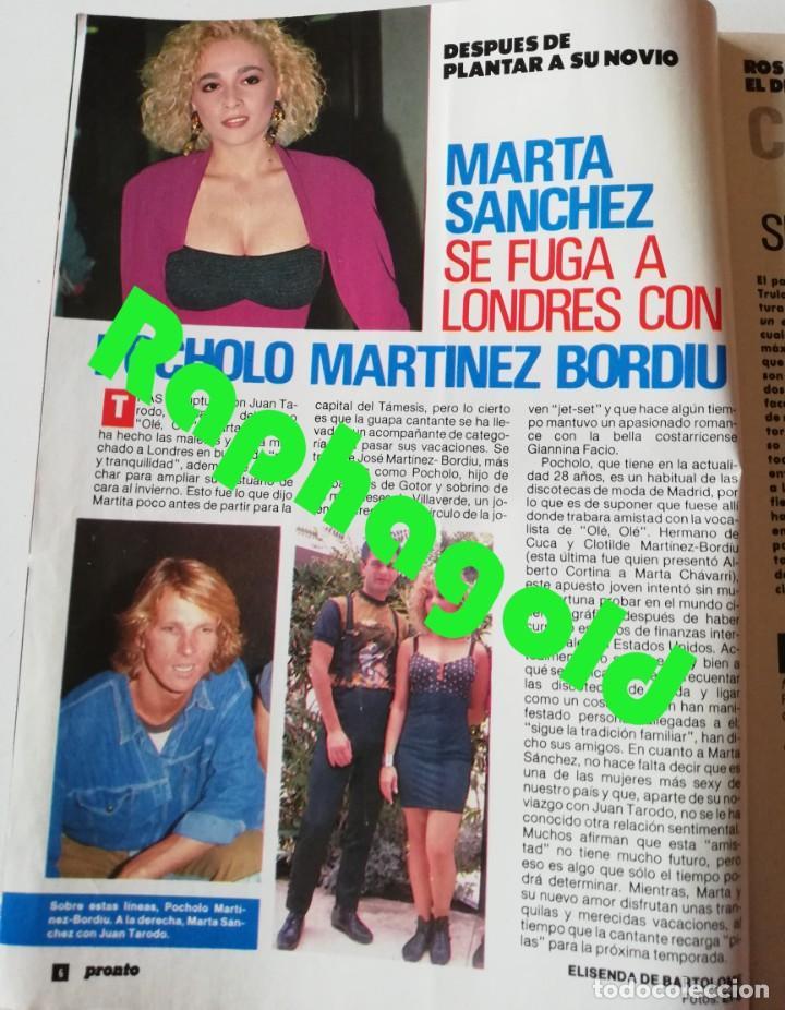 Coleccionismo de Revista Pronto: PRONTO nº 914 Camilo José Cela Marta Sánchez Vicky Larraz Lola Flores Los Morancos Travolta Heróica - Foto 3 - 262084850