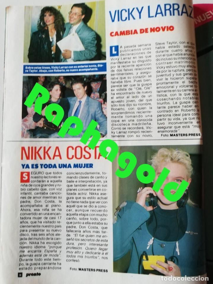 Coleccionismo de Revista Pronto: PRONTO nº 914 Camilo José Cela Marta Sánchez Vicky Larraz Lola Flores Los Morancos Travolta Heróica - Foto 5 - 262084850