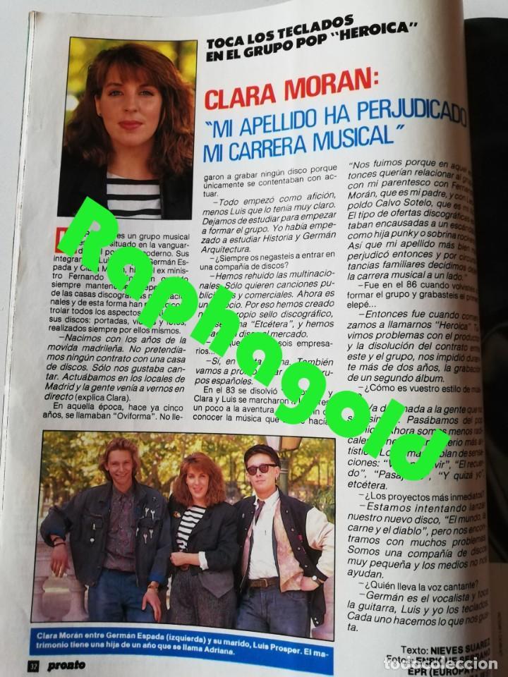 Coleccionismo de Revista Pronto: PRONTO nº 914 Camilo José Cela Marta Sánchez Vicky Larraz Lola Flores Los Morancos Travolta Heróica - Foto 7 - 262084850
