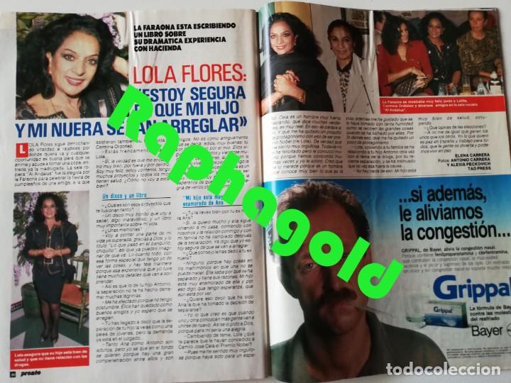 Coleccionismo de Revista Pronto: PRONTO nº 914 Camilo José Cela Marta Sánchez Vicky Larraz Lola Flores Los Morancos Travolta Heróica - Foto 9 - 262084850
