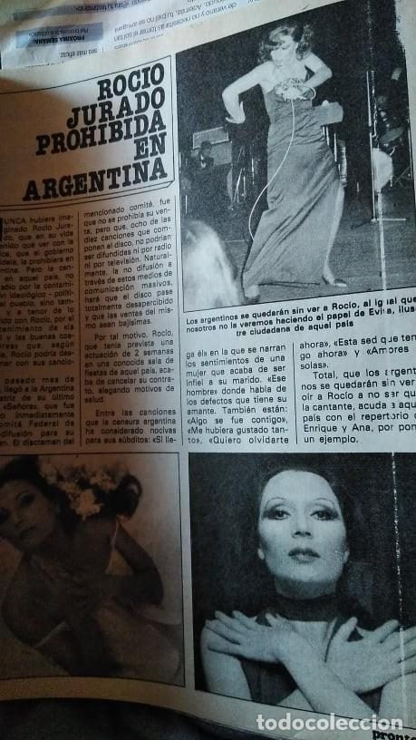 Coleccionismo de Revista Pronto: REVISTA PRONTO 439 OCTUBRE 1980 LOLA FORNER, SARA MONTIEL, ROCÍO JURADO, HEATHER PARISI - Foto 14 - 262096295
