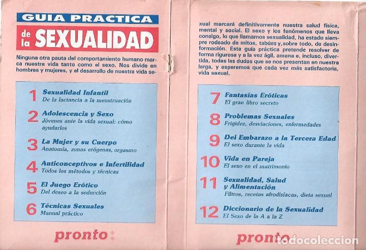 Coleccionismo de Revista Pronto: 1R- LA REVISTA PRONTO *GUÍA PRÁCTICA DE LA SEXUALIDAD.12 FASCICULOS 288 Pags AMENA,CLARA, DIVERTIDA - Foto 2 - 262112995