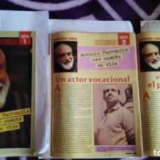 Coleccionismo de Revista Pronto: 3 REVISTAS DE PRONTO CON LA BIOGRAFÍA DE ANTONIO FERRANDIS CHANQUETE VERANO AZUL AÑO 1987. Lote 262726120