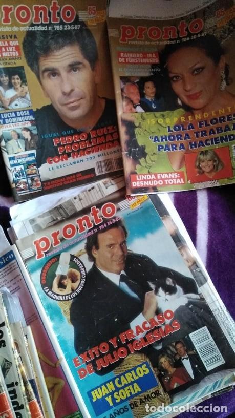 Coleccionismo de Revista Pronto: LOTE 35 REVISTAS PRONTO AÑO 1987 ISABEL PANTOJA, ROCÍO JURADO, ROCÍO CARRASCO, MADONNA, HOMBRES G... - Foto 2 - 262734800