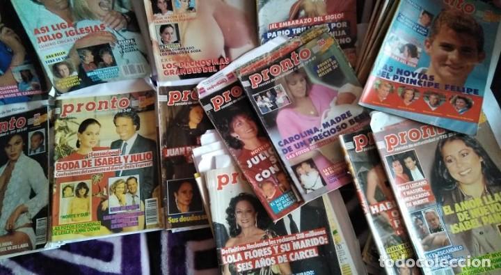 Coleccionismo de Revista Pronto: LOTE 35 REVISTAS PRONTO AÑO 1987 ISABEL PANTOJA, ROCÍO JURADO, ROCÍO CARRASCO, MADONNA, HOMBRES G... - Foto 3 - 262734800