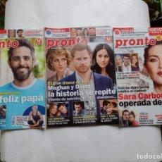 Coleccionismo de Revista Pronto: LOTE 3 REVISTAS PRONTO 2021-SARA CARBONERO-ROBERTO LEAL-PRINCIPE HARRY-ANA OBREGON-ANTONIO BANDERAS. Lote 264544144