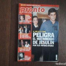 Coleccionismo de Revista Pronto: REVISTA PRONTO, NÚMERO 1627, 12 DE JULIO DE 2003. Lote 266085353