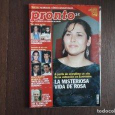 Coleccionismo de Revista Pronto: REVISTA PRONTO, NÚMERO 1617, 03 MAYO DE 2003. Lote 266085468