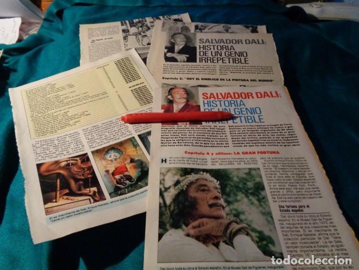 RECORTE : SALVADOR DALI , HISTORIA DE UN GENIO. CAP. 2 Y 4. PRONTO, DCMBRE 1988(#) (Papel - Revistas y Periódicos Modernos (a partir de 1.940) - Revista Pronto)