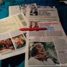 Coleccionismo de Revista Pronto: RECORTE : SALVADOR DALI , HISTORIA DE UN GENIO. CAP. 2 Y 4. PRONTO, DCMBRE 1988(#). Lote 267485404