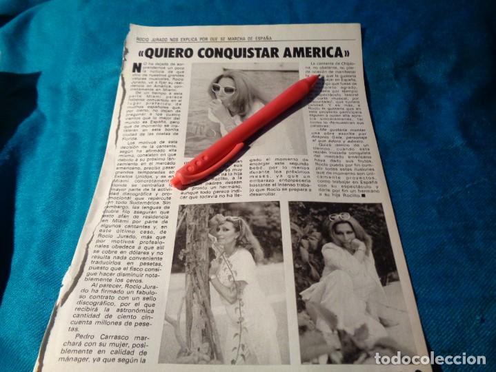 RECORTE : ROCIO JURADO, QUIERE CONQUISTAR AMERICA. PRONTO, OCTBRE 1983(#) (Papel - Revistas y Periódicos Modernos (a partir de 1.940) - Revista Pronto)