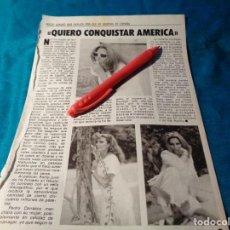 Coleccionismo de Revista Pronto: RECORTE : ROCIO JURADO, QUIERE CONQUISTAR AMERICA. PRONTO, OCTBRE 1983(#). Lote 267485719