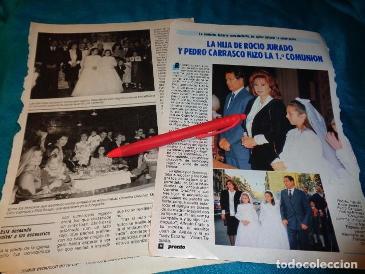 RECORTE : LA HIJA DE ROCIO JURADO, HIZO LA 1ª COMUNION. PRONTO, NVBRE 1986(#) (Papel - Revistas y Periódicos Modernos (a partir de 1.940) - Revista Pronto)
