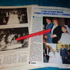Coleccionismo de Revista Pronto: RECORTE : LA HIJA DE ROCIO JURADO, HIZO LA 1ª COMUNION. PRONTO, NVBRE 1986(#). Lote 267486279