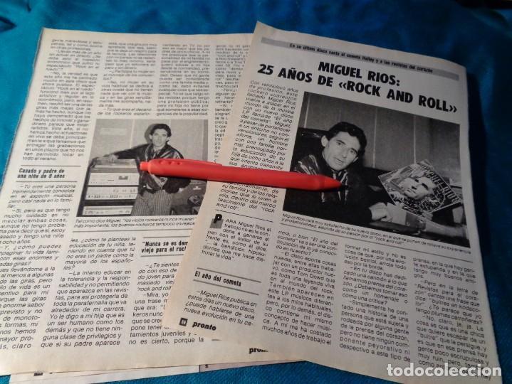 RECORTE : MIGUEL RIOS, 25 AÑOS DE ROCK AND ROLL. PRONTO, NVBRE 1986(#) (Papel - Revistas y Periódicos Modernos (a partir de 1.940) - Revista Pronto)