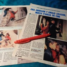 Coleccionismo de Revista Pronto: RECORTE : ANA OBREGON Y EMILIO ARAGON, PAREJA DE CINE. PRONTO, NVBRE 1986(#). Lote 267486504