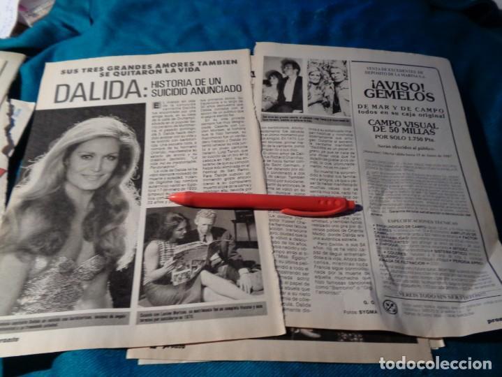 RECORTE : DALIDA : HISTORIA DE UN SUICIDIO ANUNCIADO. PRONTO, MAYO 1987(#) (Papel - Revistas y Periódicos Modernos (a partir de 1.940) - Revista Pronto)