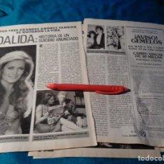 Coleccionismo de Revista Pronto: RECORTE : DALIDA : HISTORIA DE UN SUICIDIO ANUNCIADO. PRONTO, MAYO 1987(#). Lote 267486644