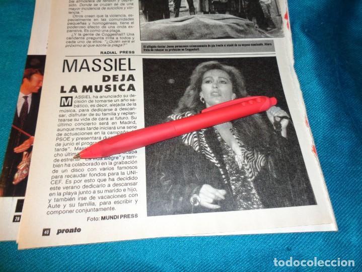 RECORTE : MASSIEL, DEJA LA MUSICA. PRONTO, MAYO 1987(#) (Papel - Revistas y Periódicos Modernos (a partir de 1.940) - Revista Pronto)