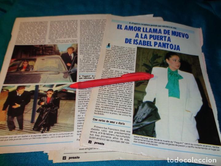 RECORTE : EL AMOR LLAMA A LA PUERTA DE ISABEL PANTOJA. PRONTO, FBRO 1987(#) (Papel - Revistas y Periódicos Modernos (a partir de 1.940) - Revista Pronto)