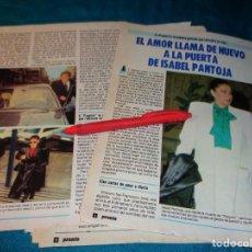 Coleccionismo de Revista Pronto: RECORTE : EL AMOR LLAMA A LA PUERTA DE ISABEL PANTOJA. PRONTO, FBRO 1987(#). Lote 267487044