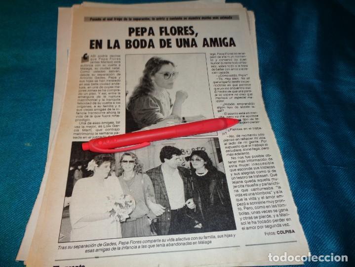 RECORTE : PEPA FLORES, MARISOL, EN LA BODA DE UNA AMIGA. PRONTO, FBRO 1987(#) (Papel - Revistas y Periódicos Modernos (a partir de 1.940) - Revista Pronto)