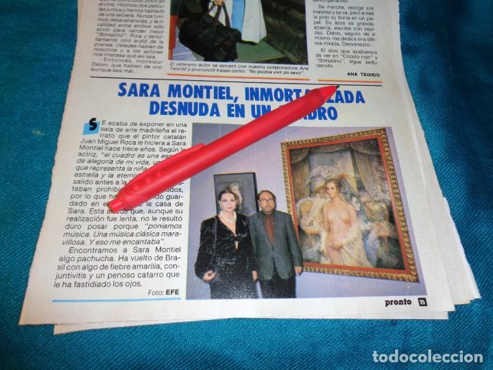 RECORTE : SARA MONTIEL, INMORTALIZADA EN UN CUADRO. PRONTO, FBRO 1987(#) (Papel - Revistas y Periódicos Modernos (a partir de 1.940) - Revista Pronto)