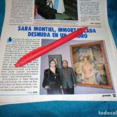 Coleccionismo de Revista Pronto: RECORTE : SARA MONTIEL, INMORTALIZADA EN UN CUADRO. PRONTO, FBRO 1987(#). Lote 267487369