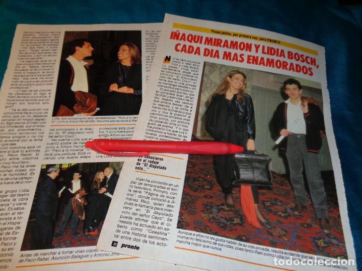 RECORTE : LIDIA BOSCH E IÑAQUI MIRAMON. PRONTO, FBRO 1987(#) (Papel - Revistas y Periódicos Modernos (a partir de 1.940) - Revista Pronto)
