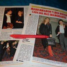 Coleccionismo de Revista Pronto: RECORTE : LIDIA BOSCH E IÑAQUI MIRAMON. PRONTO, FBRO 1987(#). Lote 267487519
