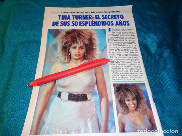 RECORTE : TINA TURNER, EL SECRETO DE SUS 50 AÑOS. PRONTO, FBRO 1987(#) (Papel - Revistas y Periódicos Modernos (a partir de 1.940) - Revista Pronto)