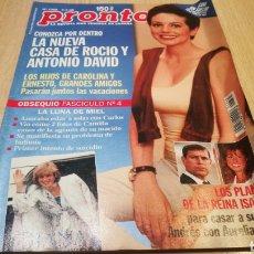 Coleccionismo de Revista Pronto: REVISTA PRONTO N ° 1365 - 4/7/98 - LA NUEVA CASA DE ROCÍO Y ANTONIO DAVID. Lote 267523699