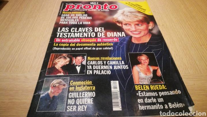 REVISTA PRONTO N° 1349 - 14/3/98 - LAS CLAVES DEL TESTAMENTO DE DIANA / BELÉN RUEDA / CARLOS Y CAMIL (Papel - Revistas y Periódicos Modernos (a partir de 1.940) - Revista Pronto)
