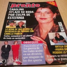 Coleccionismo de Revista Pronto: REVISTA PRONTO N° 1371 - 15/8/98 -LA REINA DE INGLATERRA SE ENTREVISTA EN PRIVADO CON CAMILA PARKER. Lote 267524654