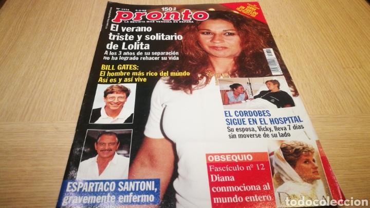 REVISTA PRONTO N° 1374 - 5/9/98 - EL VERANO TRISTE DE LOLITA / EL CORDOBÉS / BILL GATES (Papel - Revistas y Periódicos Modernos (a partir de 1.940) - Revista Pronto)
