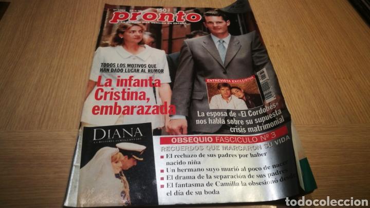 REVISTA PRONTO N° 1364 - 27/6/98 - LA INFANTA CRISTINA EMBARAZADA / LA ESPOSA DEL CORDOBÉS (Papel - Revistas y Periódicos Modernos (a partir de 1.940) - Revista Pronto)