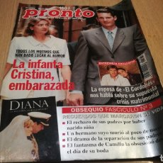 Coleccionismo de Revista Pronto: REVISTA PRONTO N° 1364 - 27/6/98 - LA INFANTA CRISTINA EMBARAZADA / LA ESPOSA DEL CORDOBÉS. Lote 267524894