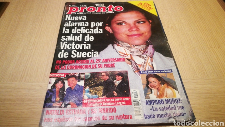 REVISTA PRONTO N° 1361 - 6/6/98 - VICTORIA DE SUECIA / NATALIA ESTRADA Y SU FAMILIA / AMPARO MUÑOZ (Papel - Revistas y Periódicos Modernos (a partir de 1.940) - Revista Pronto)