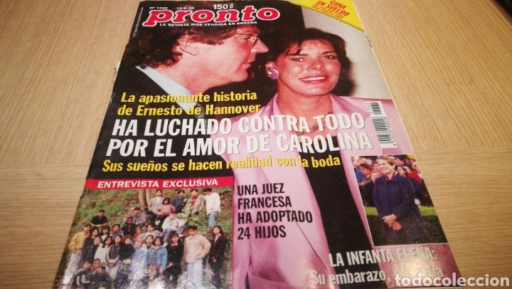 REVISTA PRONTO N° 1362 - 13/6/98 - LA APASIONANTE HISTORIA DE ERNESTO DE HANNOVER / LA INFANTA ELENA (Papel - Revistas y Periódicos Modernos (a partir de 1.940) - Revista Pronto)