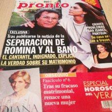 Coleccionismo de Revista Pronto: REVISTA PRONTO N° 1367 - 18/7/98 - SEPARACIÓN DE ROMINA Y AL BANO / GRAVES PROBLEMAS PARA ISABEL PAN. Lote 267525489