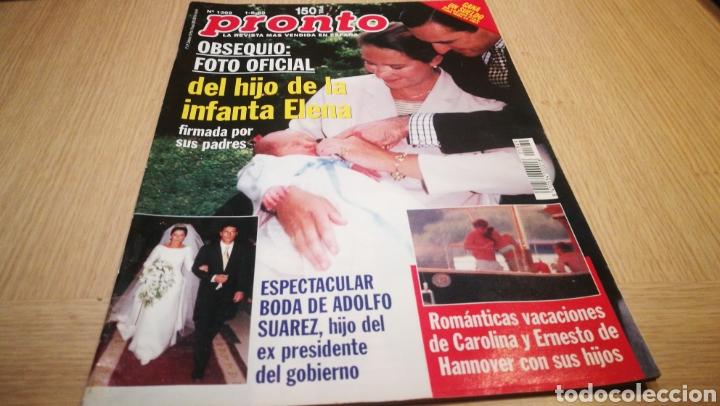 REVISTA PRONTO N° 1369 - 1/8/98 - FOTO OFICIAL DE LA INFANTA ELENA / BODA ADOLFO SUÁREZ (Papel - Revistas y Periódicos Modernos (a partir de 1.940) - Revista Pronto)